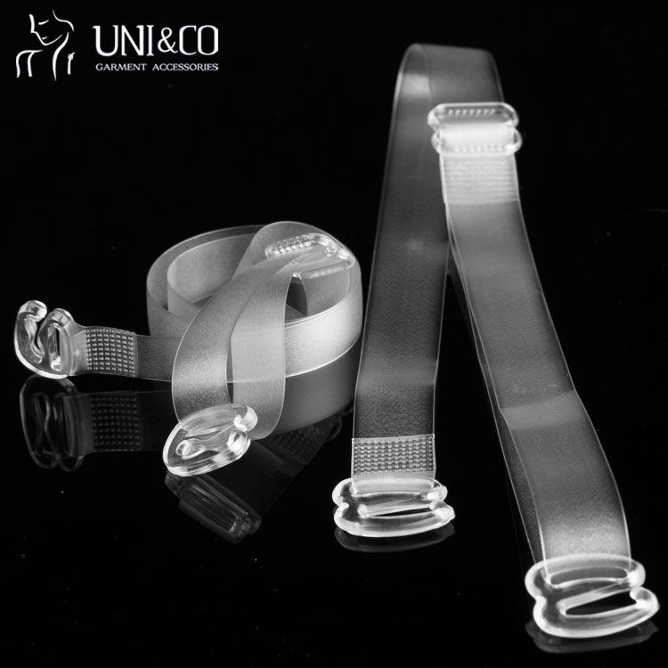 Invisible Frosted Clear Bra Shoulder Straps Sexy Women Frosted Elastic Bra Shoulder Strap