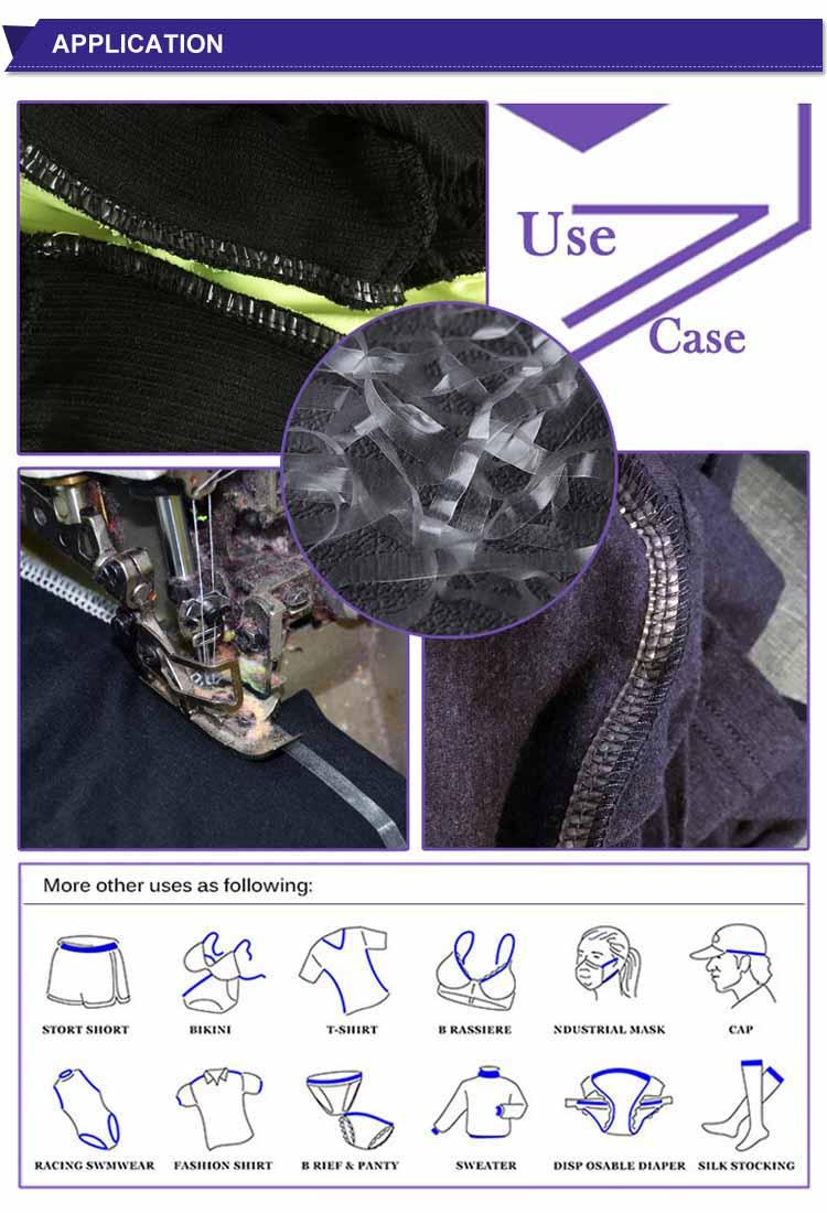 Fashion Mobilun Tpu Non-slip Polyester Elastic Tape For Knitting Clothing