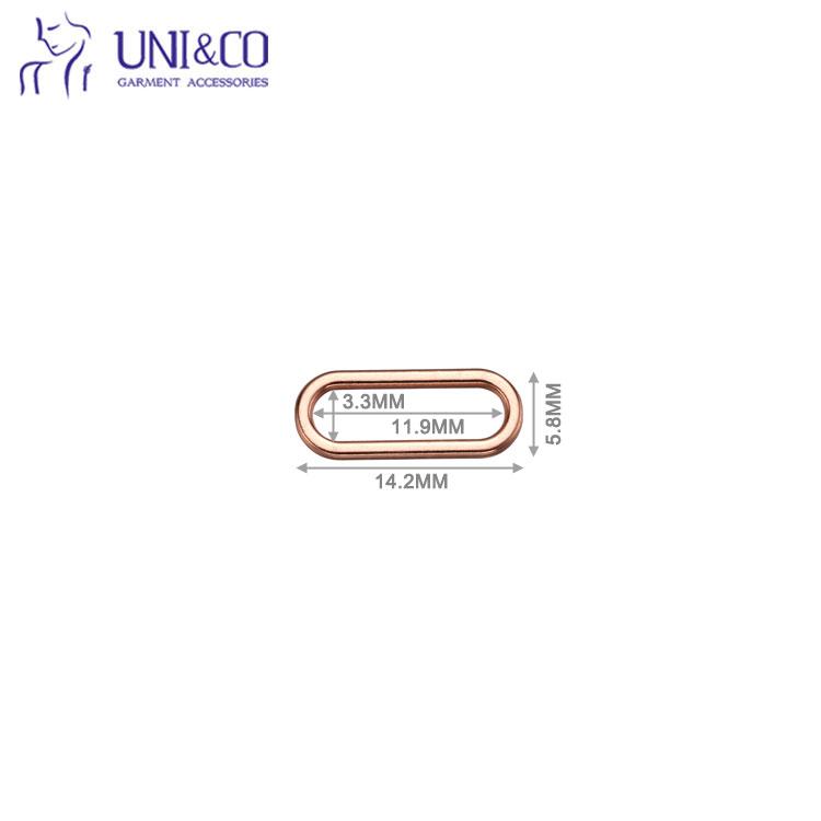 Rust Free Oval Ring Adjustable Bra Ring Hook Slider For Strap