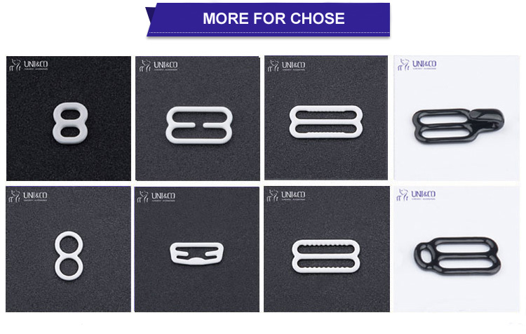 High Quality Sharp Teetch Metal Bra Strap Clasp Bra Adjuster Slider