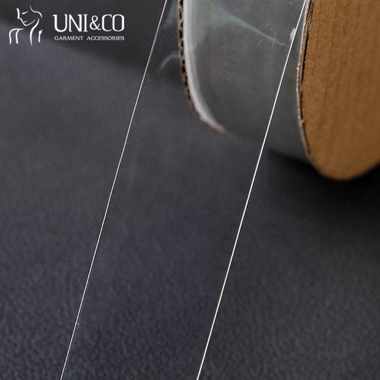 Eco-Friendly high tenacity transparent underwear bands clear mobilon tpu elastic tape