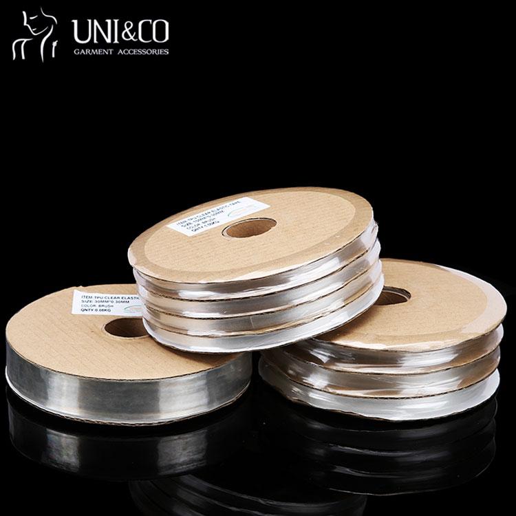 China Wholesale Non-Slip Custom Elastic Band Clear Silicone Elastic Tape